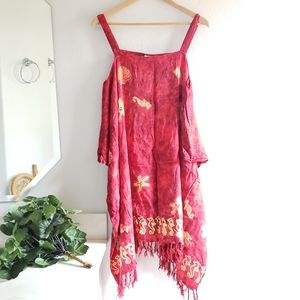 Pineapple Moon Fuscia Red Aloha Dress